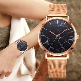 $enCountryForm.capitalKeyWord NZ - Dropshipping 2019 Luxury Women Gold Mesh Watch Fashion Bracelet Dress Watch Quartz Wristwatch Ladies Casual Watch