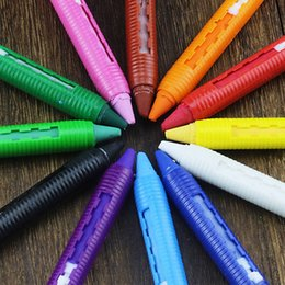 $enCountryForm.capitalKeyWord Australia - 16 Colors Party Pen Stick Painting Pencil Body Face Makeup 9.5cm Fun Removable Birthday Kids Crayons Splicing Structure Safe