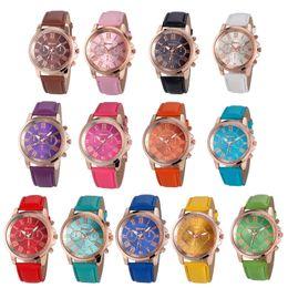 $enCountryForm.capitalKeyWord Australia - in 2019 Hot sales Unisex Geneva Leather PU Quartz Watches Men Women fashion casual Roma Men's Watch Casual dress rose gold wrist watches