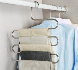 magic coat hangers Australia - Magic GH101 Steel nm095 Hanger 2019 as6 Multifunction Pants Closet Belt Holder Rack S-type 5 Layers Saving Space