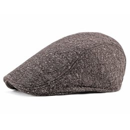 168e996fc99 2019 New Autumn Winter Men Women Hat Fashion Western Style Duckbill Ivy  Flat Cap Hat Adjustable Cotton Newsboy Beret Cap