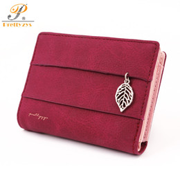 Leaf Coin Australia - 2018 Women Wallet Short Purses PU Leather Female Wallet Perse Card Holder Coin Money Bag Soft Ladies Wallet Small Leaf Red Zip