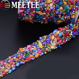 rhinestone chain trimming wholesale Australia - Rhinestones Lace Trims Sew-on Crystal Chain Lace Ribbons Tape Wedding Dress Wedding Party Home Decoration DIY Accessories