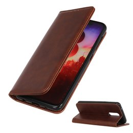 Leather case oppo online shopping - Magnetic Cowhide Phone Case for Oppo A5 Realme C2 AX7 Flip Cover Case for Oppo RENO G X K3 K1 R17 NEO AX5 AX5S F11 Pro A1K Wallet Case