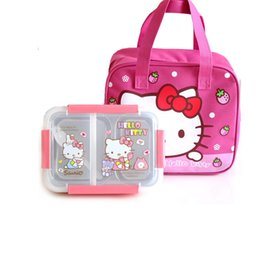 Green Box Containers Australia - Hello Kitty Pokonyan Cartoon Kids Student Lunch Box 304 Stainless Steel Picnic Bento Box Thermal Portable Food Container Plastic C18112301