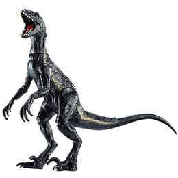 Figures Australia - Lifelike Indoraptor Jurassic World Action Figure Adjustable Dinosaurs Toy For Boy Movie Dinosaur Model Toys Gift For Children Y190604
