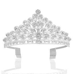 $enCountryForm.capitalKeyWord UK - Girls Sweet Party Princess Tiaras Crown Ladies Delicate Elegant Hair Ornaments With Comb Women Fashion Rhinestone King Headband