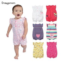 jumpsuit babies Australia - Brand Summer Baby Rompers Short Sleeve Baby Girls Clothing Kids Jumpsuits Newborn Baby girl Clothes Roupas vestidos
