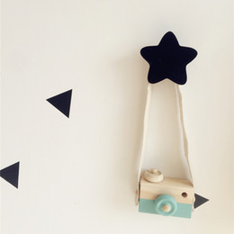 kids wooden clothes hanger Australia - Wholesale 1 PCS STAR Wooden Wall Decoratives Hooks Kids Clothes Hanger Room Door Organizer Free Shipping