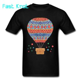 Balloon t shirt online shopping - 2018 Classic Country Indie T Shirts Mens Simple T Shirt D Graphic Hot Air Balloon Tshirt On Sale Good Quality Cotton Tops