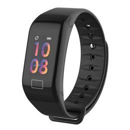 $enCountryForm.capitalKeyWord NZ - F1 plus color screen Bluetooth support SIM, TF card IP67 waterproof heart rate oximetry sleep monitoring camera sports smart watch bracelet
