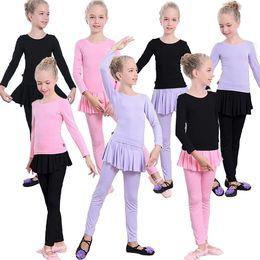 Latin Dancing Suit Australia - New Children Latin Ballroom Dance Dress Girls Performance Latin Suit Kids Dance Top & Skirt Sets Latin Competition Costumes