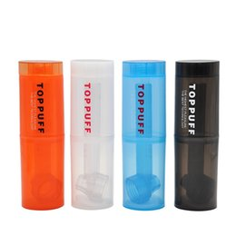 Traveling waTer boTTle online shopping - Traveling travelling Water top Puff toppuff glass bong portable Smoking Pipe instant portable Screw on Bottle Converter mixed color