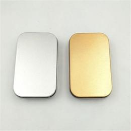 $enCountryForm.capitalKeyWord Australia - Popular Tin Box Empty Silver gold Metal Storage Box Case Organizer For Money Coin Candy Keys U disk headphones gift box 0504ayq