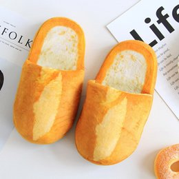 3d slippers Canada - Lizeruee Women Winter 3D Bread Lovers Adult Slippers Indoor Floor Home Shoes Bedroom Warm Soft Slippers Unisex Funny Gift WS294 Y200706