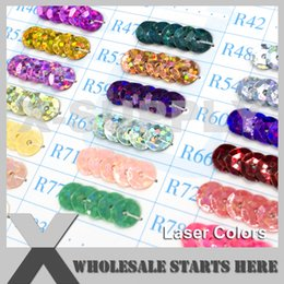 Evening Nails Australia - (Laser Colors) Round 6mm Cup Loose Sequin Paillettes for Party Evening Dress,Costume,Nail Art (Contact Us For More Colors)