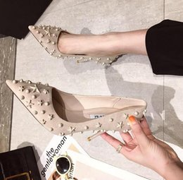 stiletto party office shoes Australia - Designer women Suede Pumps Stars Stiletto Lady Rivets Stars Shallow mouth pointed toe Luxury EUR Lady Office dress party Shoes Fashion shoes