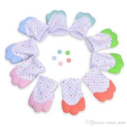 $enCountryForm.capitalKeyWord Australia - Silicone Teether Baby Pacifier Gloves Baby Teething Gloves Newborn Nursing Mittens Kids Teether Chewable Nursing Beads
