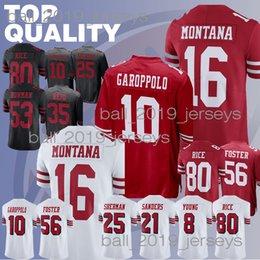 49er jerseys 10 Jimmy Garoppolo 80 Jerry Rice 16 Joe Montana San Francisco  56 Reuben Foster 25 Richard Sherman jersey 0859b34bd