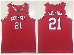 79324d57662 University Of Georgia Bulldogs College Dominique Wilkins  21 Red Retro  Basketball Jersey Mens Stitched Custom Any Number Name Jerseys