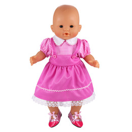 $enCountryForm.capitalKeyWord NZ - 2019 newest fashion cute mini doll clothes dress pink white outfit for 18 inch doll baby reborn new born best birthday gift