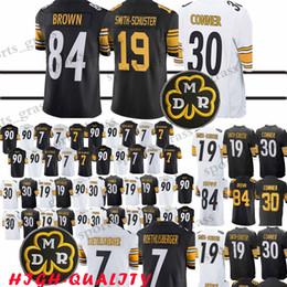 3b2f2bcdd Football Pittsburgh UK - 30 James Conner 84 Antonio Brown 2019 Pittsburgh  Steeler jerseys 7 Ben
