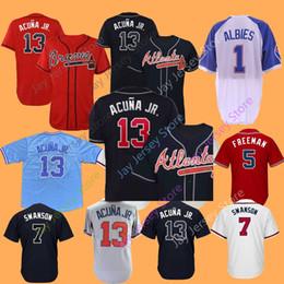 2019 New Atlanta Braves Jersey Ronald Acuna Jr. Jr Ozzie Albies Freddie  Freeman Dansby Swanson Chipper Jones Men Women Youth 517c3df34