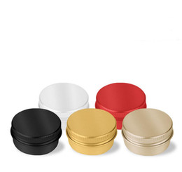 aluminium tins NZ - 10g 5 colors aluminium cream jars with screw lid,cosmetic case jar,10ml aluminum tins 500pcs