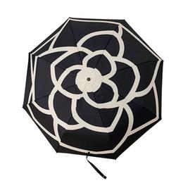 Umbrella Anti UK - Classic Flower Umbrella For Women Three Fold Luxury Umbrella Anti-UV Sun Rain Automatic Vintage Umbrella