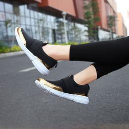 $enCountryForm.capitalKeyWord NZ - Summer Flats Shoes Woman Sneakers White Lycra Sneakers Women Luxury Adult Slip On Hardwearing Free Shipping Footwear MM-212