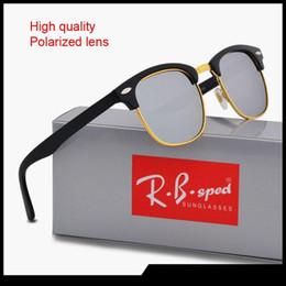 b77d3a4fb3 2019 Nuevas gafas de sol polarizadas para hombres, mujeres, gafas de sol, diseñador  de la marca, montura sin llanta, protección uv400, lente polaroid con ...