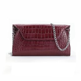 $enCountryForm.capitalKeyWord Australia - Personalized Crocodile Pattern Cow Leather Clutch Bag Women Chain Purse Ladies Evening Bag Shoulder Hand