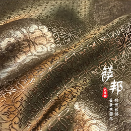 $enCountryForm.capitalKeyWord Australia - Bronze satin fabric imitate silk Brocade Fabric Damask Jacquard Apparel Costume Upholstery Furnishing Curtain Material 75*50cm