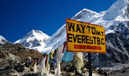 Mounting Canvas Prints Australia - Mount Everest Base Camp Art Silk Print Poster 24x36inch(60x90cm) 089
