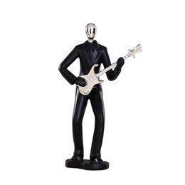 $enCountryForm.capitalKeyWord UK - Modern Resin Art Abstract Musician Figurine Musical Instrument Statue Electric Guitar Player Figurine-Black Color