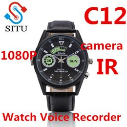 mp3 voice recording watch 2019 - Digital Voice Recorders Voice Recorder C12 Wrist Watch Business Audio Rechargeable Dictaphone MP3 Player Mini Recording