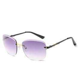 $enCountryForm.capitalKeyWord Australia - Multi Fashion Trend Sunglasses Ocean Lens Rimless Sunglasses Lady Frameless Metal Frame Pressure Resistance Ultraviolet 400