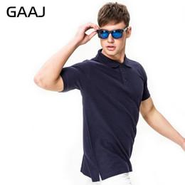 Blue Cotton Men Australia - Gaaj New Men's Brand Polo For Polos Men 100% Cotton 22 Colors Short Sleeve Solid Shirt Clothes Wine Blue Grey Red Q190525
