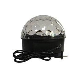 $enCountryForm.capitalKeyWord Australia - LED Stage Lighting Dancing Floor Crystal Magic Ball Disco LED Light Rotating Colorful Flashing Blinking Lights KTV Laser Light Pub