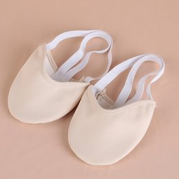 flat bellies shoes 2020 - Professional Dancewear Women Ballet Flats Belly Dance Practice Shoes Pads Foot Thong cheap flat bellies shoes