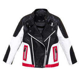$enCountryForm.capitalKeyWord Australia - Boys Jackets Faux Leather Jackets for Boys and Girls Children Jackets Fashion Autumn Toddler Girl Clothes