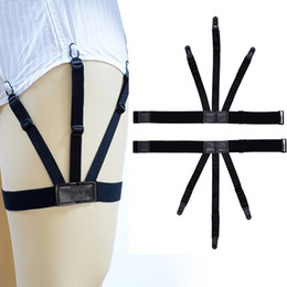 1 Pc Mens Shirt Crease-resist Anti-skid Clip Gentleman Legs Thigh Elastic Adjustable Suspender Holder Stays Garters Wholesale Reliable Performance Men's Accessories Men's Suspenders