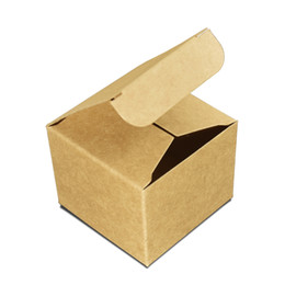 Cream ointment paCkaging online shopping - 50pcs Brown Kraft Paper Box Foldable Face Cream Packing Paperboard Boxes Jewelry Package Ointment Bottle Box with Lid