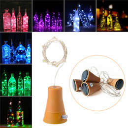 outdoor green power solar lights Australia - 2M 20LED Solar Powered Wine Bottle Cork Shaped LED Copper Wire String Outdoor Light Garland Lights Christmas Festival Outdoor Fairy Light