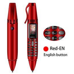 "$enCountryForm.capitalKeyWord Australia - Recording Pen Mini Cellphone 0.96"" Tiny Screen GSM Dual SIM Camera Flashlight Bluetooth Dialer Mobile Phones"