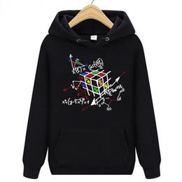 Magic Black Coating Australia - Geometric Magic Rubik Cube men's Hoodies Sweatshirt The Big Bang Theory Geek Cube Hooded Sportwear Coat Men Women hiking Windproof Pullover
