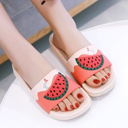 women cartoon flip flop NZ - Cartoon Fruit Women Slippers watermelon banana Home Slippers Summer Sandals Slides Women Shoes Flip Flops Sandalias Mujer