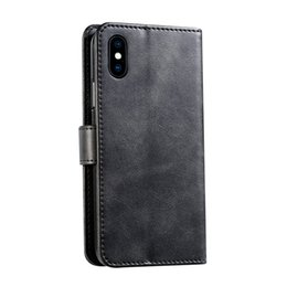 mobile phone case wallet 2019 - For Apple iphone X XS MAX XR 8 plus Samsung S8 S9 S10 Plus Case Wallet Holster Mobile Phone Card Leather Case Cover disc