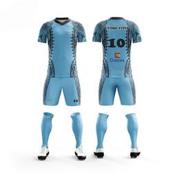 72967de27 ustomized 18 19 Blank Soccer Jersey & shorts Adults & children jerseys  Football uniform Soccer Training Suit Running Sportswear jersey