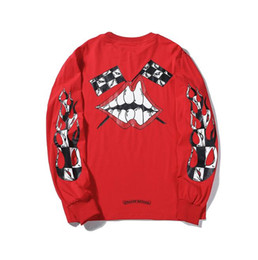 $enCountryForm.capitalKeyWord Australia - Tide brand graffiti men and women with the same paragraph wild sweater horseshoe lips printed cotton wool coil tracksuit